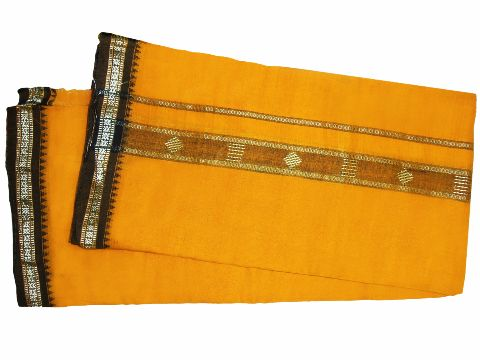 Buy Khurda cotton gamuchha Yellow 4 hati design