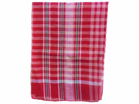 Buy Khurda cotton gamuchha red and white4 hati design