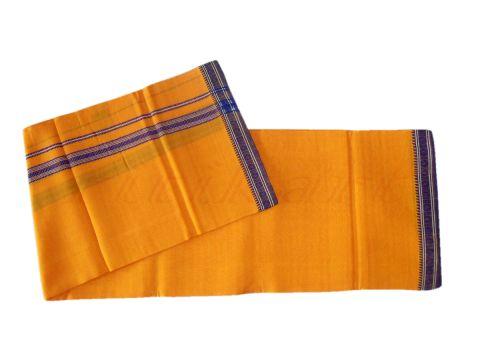 Khurda Gamucha Light orange Colour 90 Cm X 180 CMS