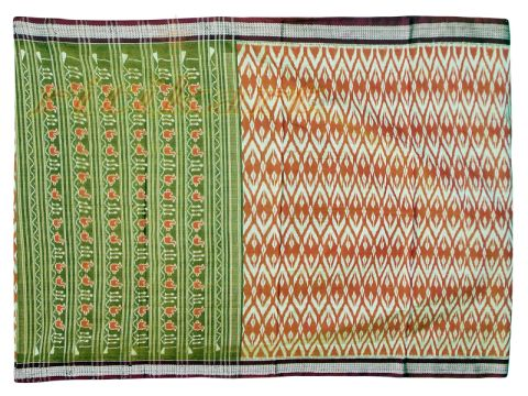 Sambalpuri Saree Brown Yellow Color P1