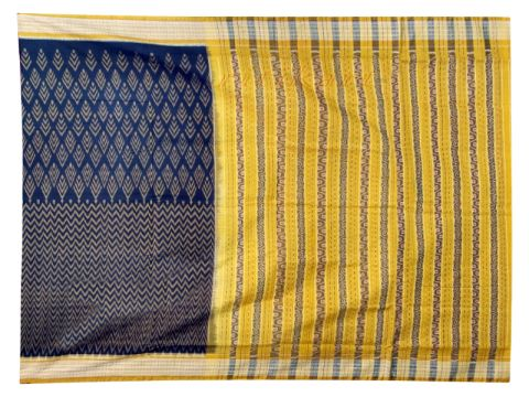 Sambalpuri Golden and Black design Saree with Blouse