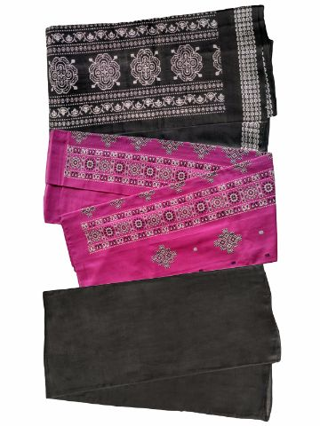 Sambalpuri Salwar Suit Material Pink and Black color