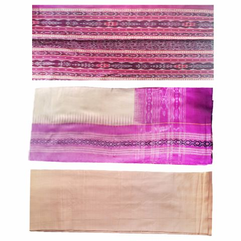 Sambalpuri Pasapali Salwar Suit Material Violet  and Pink Color  p-1