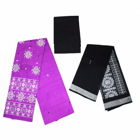 Sambalpuri Cotton Salwar Suit Material Pink and Black Color