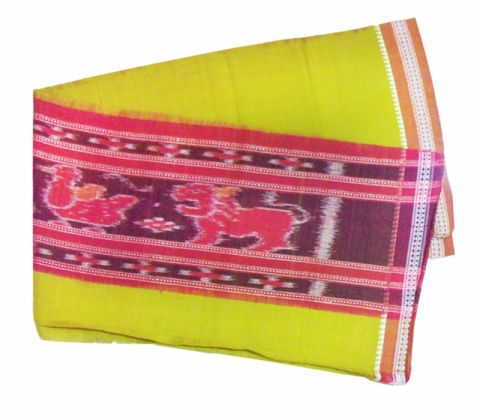 Hand woven pure cotton Mehendi Colour Gamcha