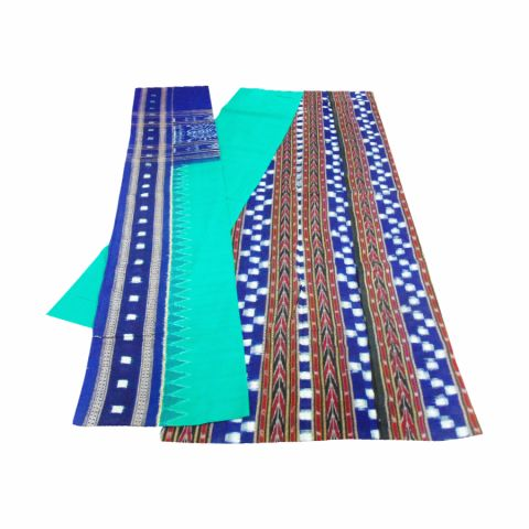 Green and Blue Color Sambalpuri Salwar Suit