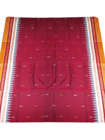 Bomkai Cotton Sambalpuri Saree