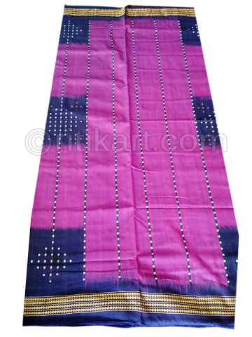 Sambalpuri Hand Woven Brown with Maroon Anchal Design Saree