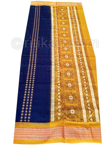 Blue Sambalpuri  Bomkai Cotton Saree