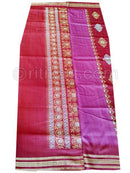 Red And Pink Sambalpuri Bomkai Cotton Saree