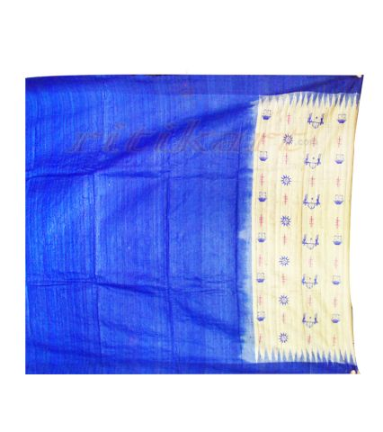 Classic Tussar Silk Saree with Embroidery Body Work