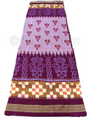 Violet And White Sambalpuri Pasapalli Design Saree