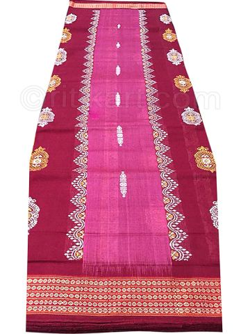Maroon And Pink Sambalpuri Cotton saree