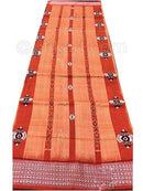 Orange Red Sambalpuri Hand Woven Cotton saree