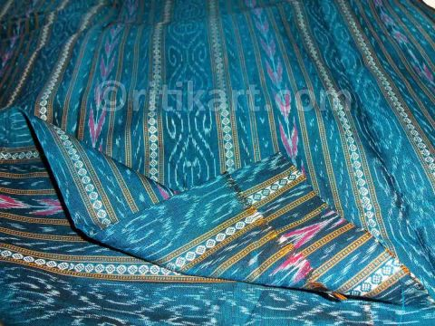 Deep Sky Blue With Pasapalli Unique Design Ethnic Salwar Suit Material