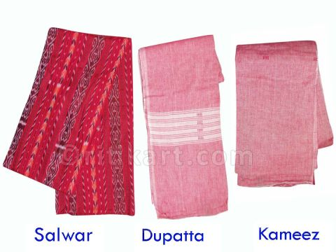 Maroon Color Sambalpuri Salwar Suit
