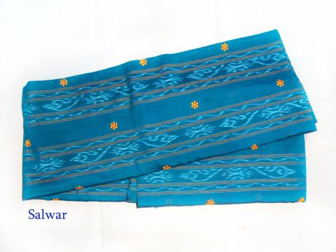 Deep Blue Color Sambalpuri Salwar Suit