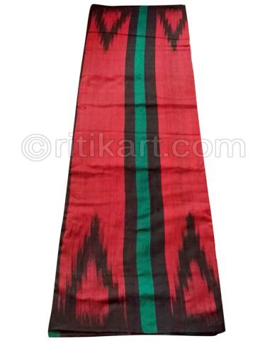 Black And Maroon Nuapatana Khandua Cotton Saree P1