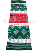 Green And Red Nuapatana Khandua Cotton Saree P1
