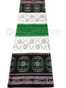 Green And Black Nuapatana Khandua Cotton Saree P1