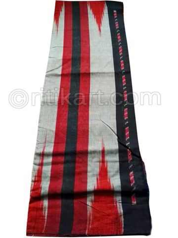 Gray And Black Nuapatana Khandua Cotton Saree P1