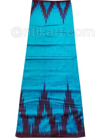 Copper Sulfate And Black Nuapatana Khandua Cotton Saree P1