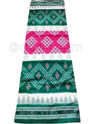 Pink And Green Nuapatana Khandua Cotton SareeP1