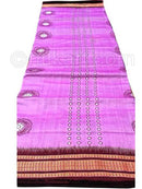 Light Purple Sambalpuri Hand Woven Cotton Flower Saree