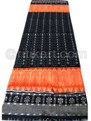 Black And Orange Hand Woven Sambalpuri Cotton Saree