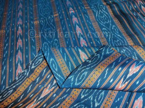 Sulfur Blue Color Sambalpuri Bandha Design Salwar Suit