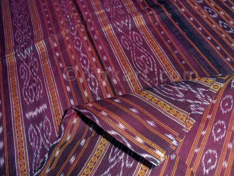 Dark Maroon Color Sambalpuri Buti Design Salwar Suit