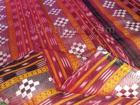 Maroon Color Pasapalli Design Sambalpuri Ladies Salwar Suit