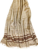Natural Color Tussar Silk Shawl P1