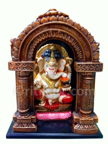 Lord Ganesh with Arch Statue Pic-1