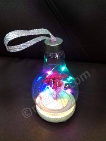 Decorative Flower Bouquet with LED Light (With Glass Cover) P1