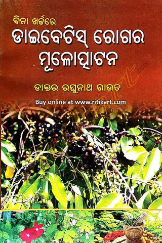 Bina Kharchare Diabetes Rogara Mulotapatana By Dr Raghunath Rout Cover