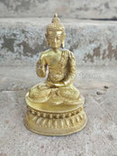 Brass Statue Sitting Lord Budha