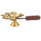 Balakati Brass Panch Aarti with wooden handle