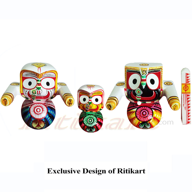 Jagannath Balabhadra Subhadra Wooden Idol of 20 CMs Height pic-1