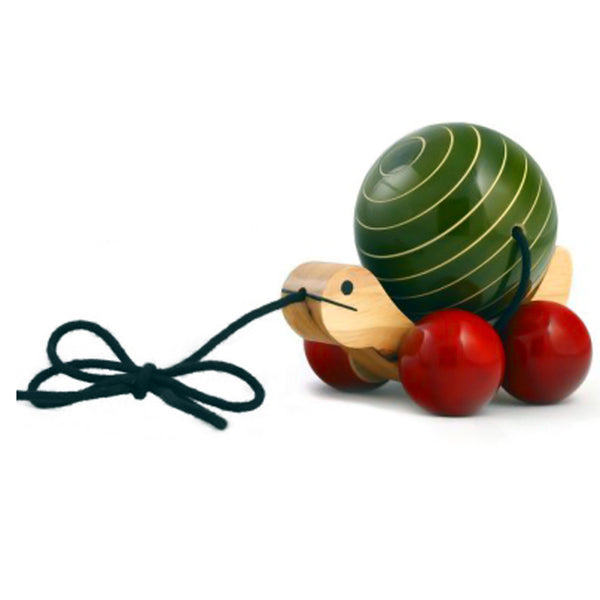 Chanapatna Wooden Toy Tuttu Turtle (Green Color)