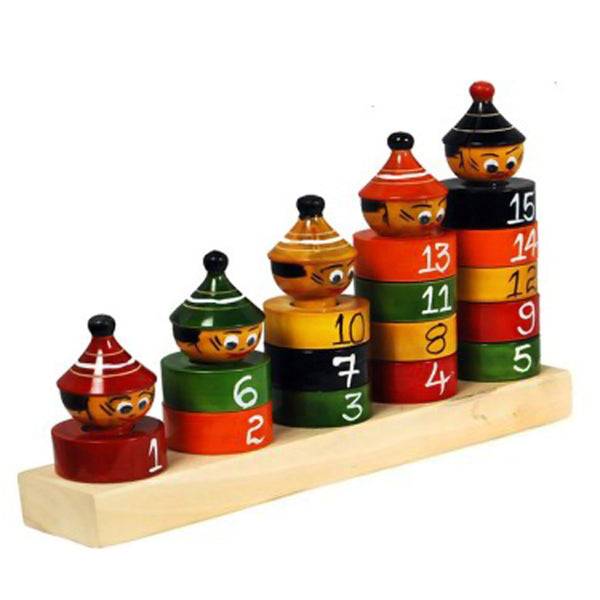 Wooden Stacking & Counting Joker (Multicolor)-pic1