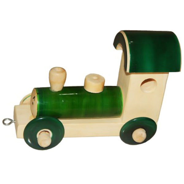 Channapatna  Wooden Rail Engine( Green) Toys