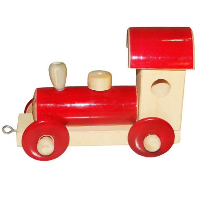 Channapatna Wooden rail Engine (red)