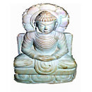 Lord Buddha in Sitting Posture Stone Work Showpiece