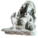Pink Stone Lord Ganesh Leaning on a Pillow Showpiece