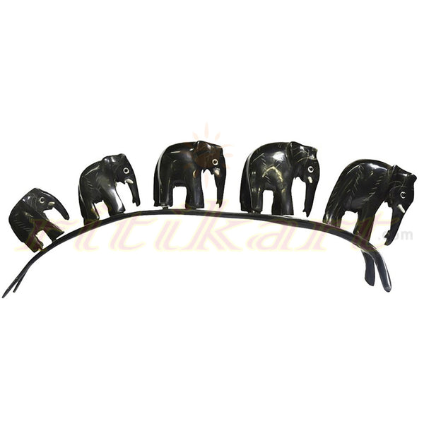 Horn Crafts - Five Elephants Walking in a Row
