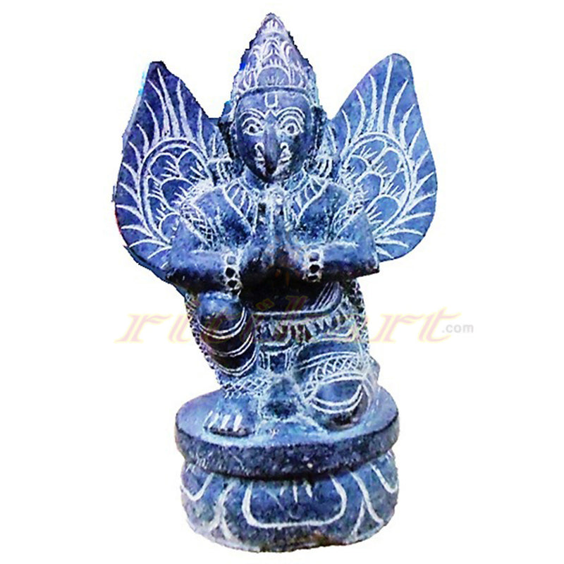 Black Stone Work Lord Garuda in Praying position
