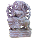 Serpentine Stone Goddess Dugra Showpiece