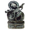 Black Stone Lord Krishna Work Showpiece