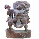 Pink Stone Lord Hanuman design with lens work